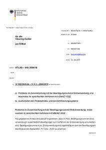 thumbnail of Probleme im Zusammenhang mit der Bewilligungsnummer Endverwendung; insbesondere im vereinfachten Verfahren mit vZA AZ EGZ