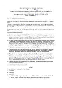 thumbnail of Einführung bestimmter restriktiver Maßnahmen gegenüber der Republik Guinea