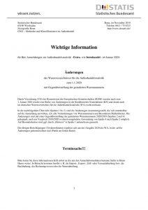 thumbnail of Änderungen des Warenverzeichnisses für die Außenhandelsstatistik zum 1.1.2020
