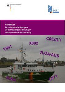 thumbnail of Handbuch Ausfuhrgenehmigungen Genehmigungscodierungen elektronische Abschreibung