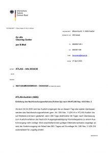 thumbnail of Einleitung des Nachforschungsverfahrens