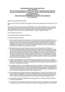 thumbnail of Anwendung bestimmter spezifischer restriktiver Maßnahmen gegen bestimmte Personen und Organisationen