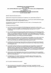 thumbnail of Die Verordnung über restriktive Maßnahmen gegen Cyberangriffe