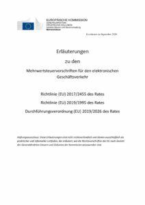 thumbnail of Erläuterungenzu denMehrwertsteuervorschriften für den elektronischen Geschäftsverkehr